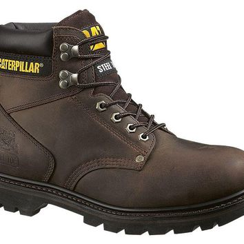 Cat® P89586-9-5M Caterpillar® Men's Second Shift Steel-Toe Work Boot, Brown, 9.5 M