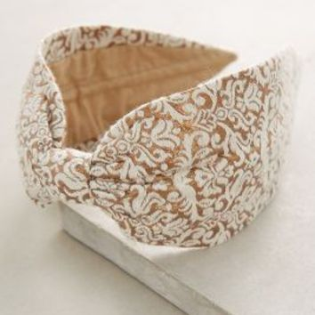 Filigree Turban Headband by Anthropologie in Cream Size: One Size Hair
