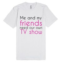 Friends-Unisex White T-Shirt