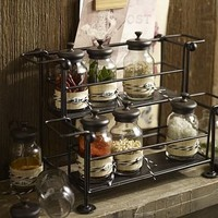 Counter Spice Rack & Jars | Pottery Barn