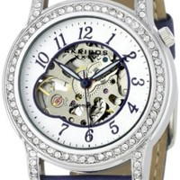 Akribos XXIV Women's AKR475BU Bravura Collection Skeleton Automatic Watch