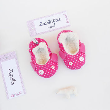 Baby girl crib shoes | Pink pram shoes | baby girl cotton soft sole ballerina shoes with mouse face | Indoor shoes 6 months soft fur lining