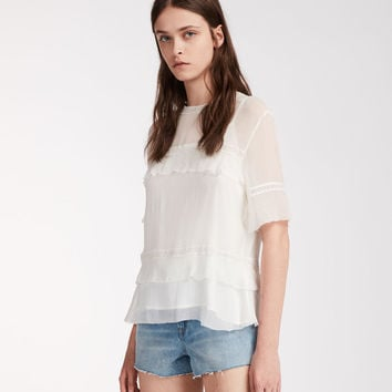 ALLSAINTS CA: Womens Selima Eboshi Top (chalk_white)