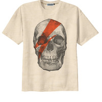 Retro David Bowie Skull SkeletonPunk Rock T-Shirt Tee Organic Cotton Vintage Look Size S M L