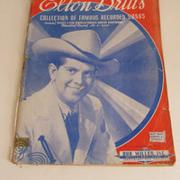 1943 Original Old Country Music Sheet Music Book Elton Britts Famous Recorded Songs Buy War Bonds and Stamps ad