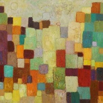 City Colors Giclee Print from original oil mix media by siiso