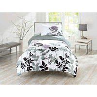 Walmart: Better Homes and Gardens Comforter Set, Warm Plum Fauna