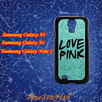 Samsung Galaxy S3 case,Samsung Galaxy S4 case,Samsung Galaxy Note 2 case--love pink,in plastic