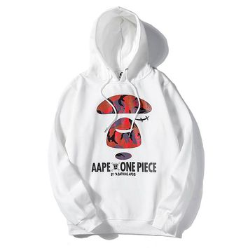 Bape Aape sells stylish hoodies casual one piece printed hoodies White