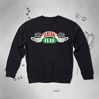 Vintage 90s TV Show Retro 1990 Graphic Coffee sweatshirt jumper Top Sweater Pullover