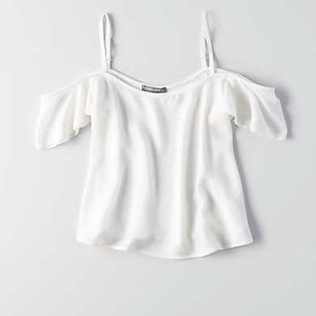 Don't Ask Why Cold Shoulder T-Shirt, Frosty Cream