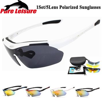 PureLeisure Hot 1 Set 5 Lens Clip on Zonnebril Polarized Sunglasses Sport Polarized Lens Clip Sunglasses PLG0089 Polarized