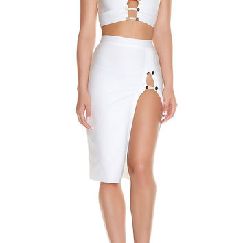 Vee Bandage Two Piece - White