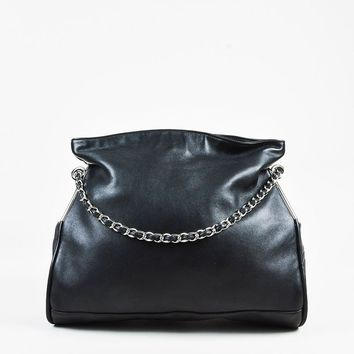 "Chanel Black Lambskin Leather ""Ultimate Soft"" Shoulder Bag"