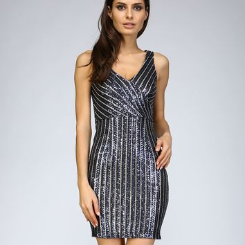 Night Fancy Sequined Party Dress