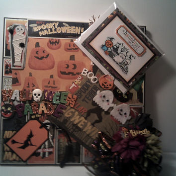 HALLOWEEN Parade Gift Set Scrapbook Picture Frame GHOST Greeting Card Wall Hanging collage Print Decoration 3D Mixed Media Art Fun & Festive