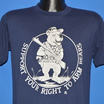 80s Support Your Right To Arm Bears t-shirt Medium