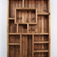 Shadowbox wood shelf shadow box display from for B q living room shelves
