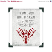 sale // The Phoenix - Lyrics Art Print - 8x10 - Fall Out Boy - Gray Maroon