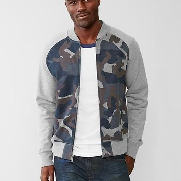 Gap Men Fleece Camo Bomber Jacket