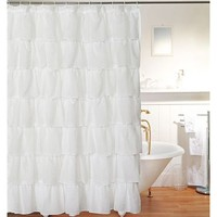 BIG BUY! Layered Voile Shower Curtain