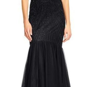 Adrianna Papell Long Homecoming Dress Evening Prom Gown