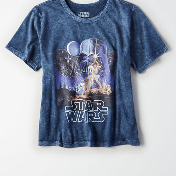 Star Wars Shrunken Graphic T-Shirt, Navy