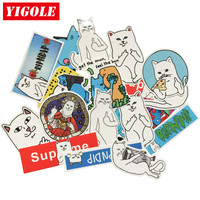20pcs/lot Funny Ripndip Stickers Classic Toys Laptop Skateboard Suitcase Sticker Toy For Kids