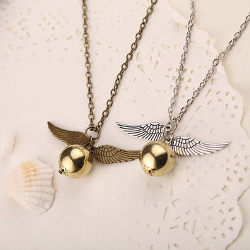 Harry Potter Necklace Vintage Style Angel Wing pendant