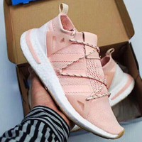 Adidas New Fashion Arkyn Boost Women Men Sock Shoes Leisure Soles Sneakers Pink