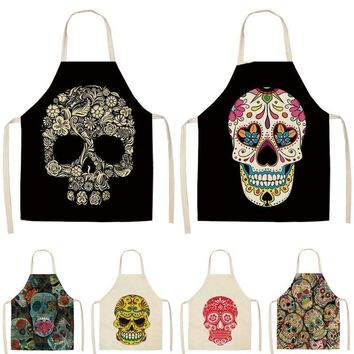 1Pc Skull Pattern Kitchen Apron for Cooking
