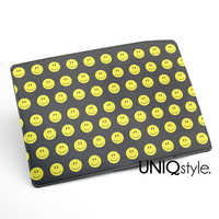 Passport Holder Case Travel Wallet PU Leather Cover - happy smiley face - L27