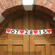 Banners Wedding Date Signs Sweetheart Table Banner Rustic Chic Wedding Decor Bridal shower