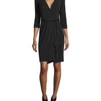 Diane von Furstenberg New Julian Two Matte Jersey Wrap Dress, Black