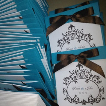 50 Wedding NEW Stacked Layered Booklet Wedding Invitation - 15th, 16th, 18th, 21st, 30th, 40th, 50th, 60th