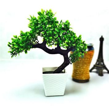 CREYHY3 Artificial flower potted bonsai Set fake flower plant pine trees Komatsu