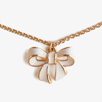 Bow Charm Necklace