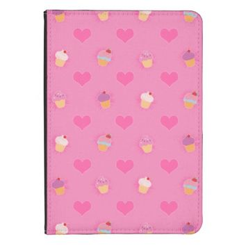 Pink Cupcake Pattern Kindle Touch Cover