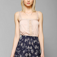 Hazel Embroidered Swiss Dot Cami - Urban Outfitters