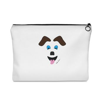 ACCESSORY TRAVEL POUCH: Happy Dog design ships free by PonsArt $22.00+