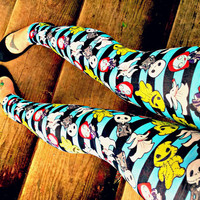 Nightmare Before Christmas kawaii stripe Leggings pants