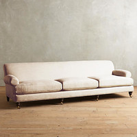 Belgian Linen Willoughby Grand Sofa, Hickory