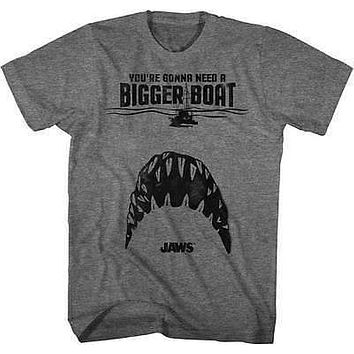 Jaws Teeth Mens T-Shirt in Graphite Heather