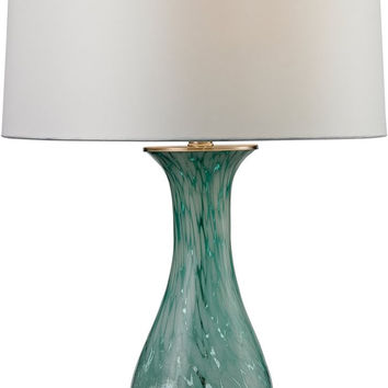 0-016703>1-Light 3-Way Table Lamp Aqua Swirl