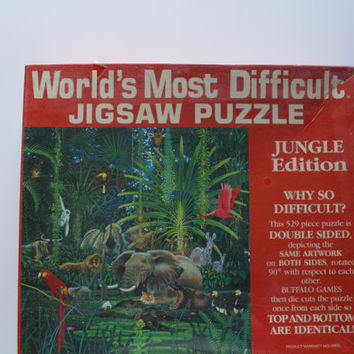 Vintage World's Most Difficult Jigsaw Puzzle Jungle Edition 1996