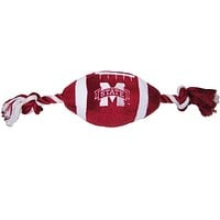 Mississippi State Plush Football Pet Toy
