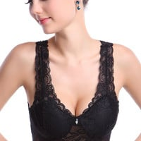 Black Lace Push Up Bra