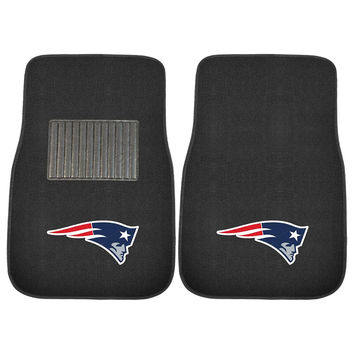 New England Patriots NFL 2-pc Embroidered Car Mat Set