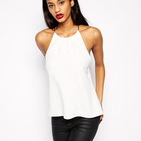 ASOS Necklace Trim Cami Top at asos.com