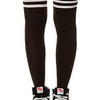 The Double Stripes Thigh High Socks
